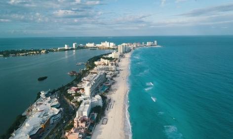 Turistas em Cancun